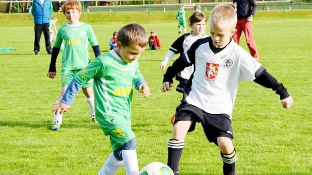 Turnaj fotbalových minipřípravek v Kunčicích.