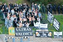 Fotbalová národní liga: Varnsdorf - FC Hradec Králové.