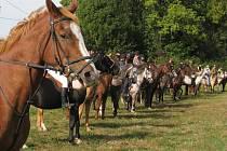 Pocta koním. Na rozlučku se sezonou přijeli do Boharyně kovbojové z celého kraje.