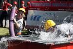 Východočeská hasičská liga, klání v Kosicích na Hradecku v neděli 22. srpna 2010.