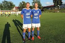 Dvojčata. David a Pavel Drozdovi z Lokomotivy rozhodli derby na Novém Hradci.