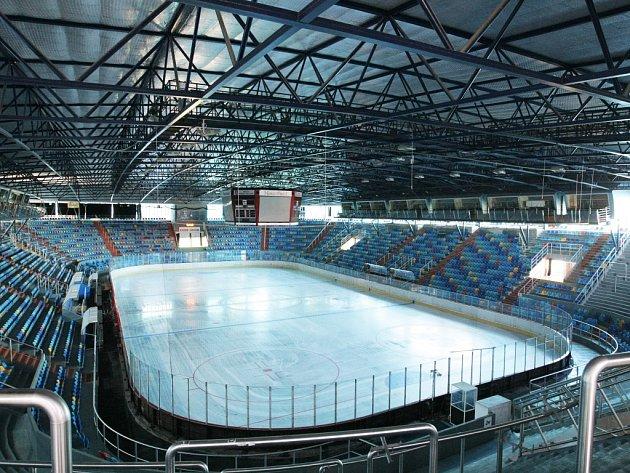 Zimní stadion v Hradci Králové.