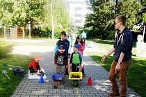 Akce Živá zahrada aneb K přírodě aktivně! v MŠ Slunečnice v Markovické ulici na Slezském Předměstí v Hradci Králové.