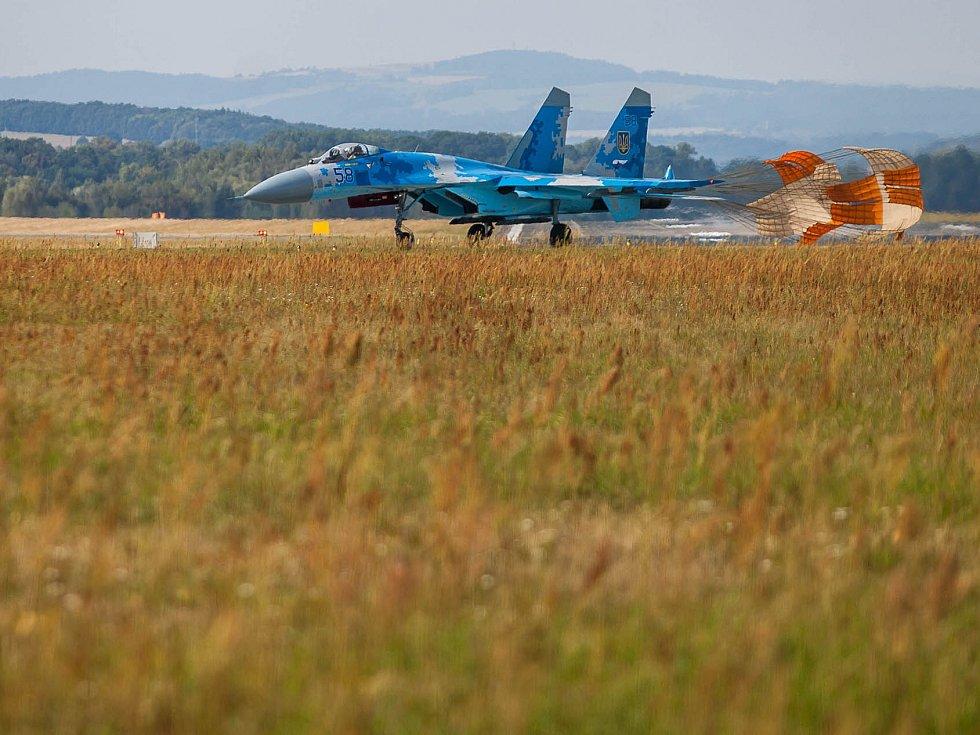 Letecká přehlídka CIAF v Hradci Králové.