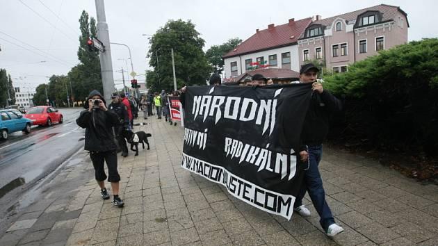 Sraz příznivců Dělnické strany v Hradci Králové