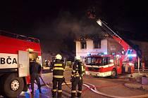 Požár domu v Libčanech.