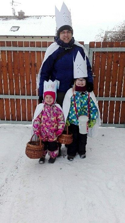 Tříkrálová sbírka v obci Praskačka.