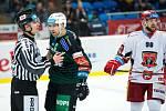 Předkolo hokejového Generali play off Tipsport extraligy: Mountfield HK - HC Energie Karlovy Vary.
