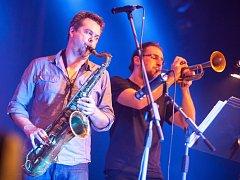 Jeden ze závěrečných koncertů festivalu Jazz Goes to Town - skupina Vertigo v prostorách Filharmonie Hradec Králové.