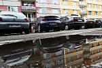 Parkování na Královéhradecku. Smiřice