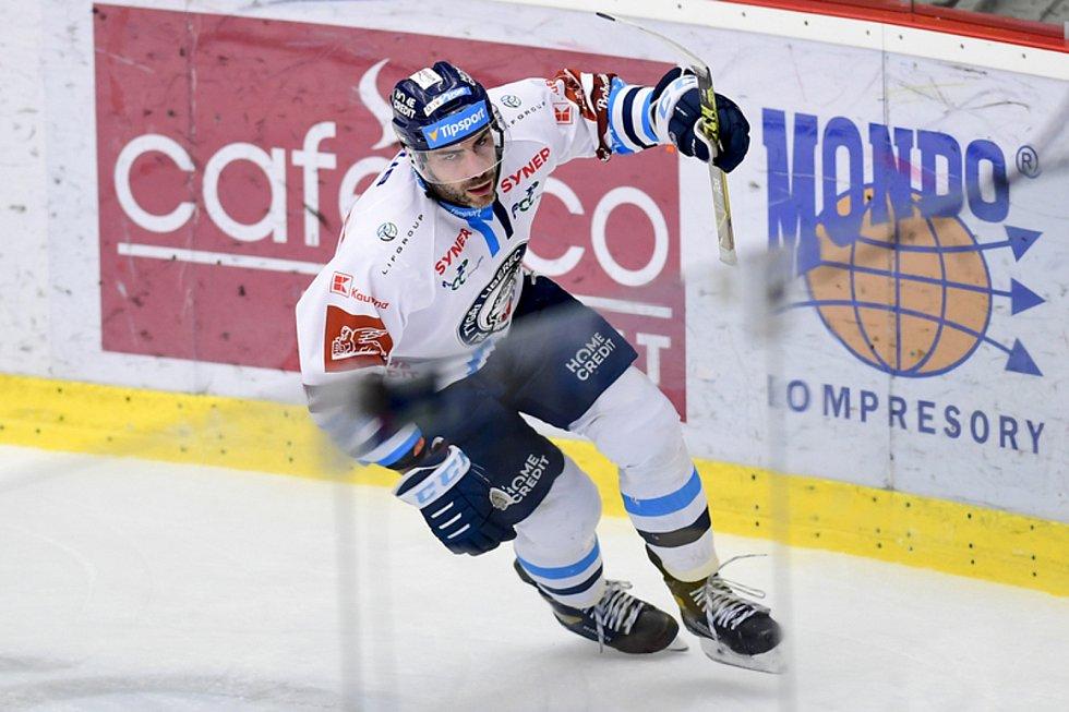 Petr Jelínek z Liberce se raduje z gólu.