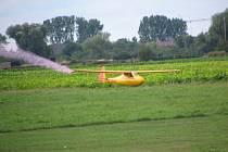 Model letadla v akci