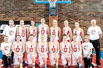 Basketbalistky TJ Sokol Hradec Králové.