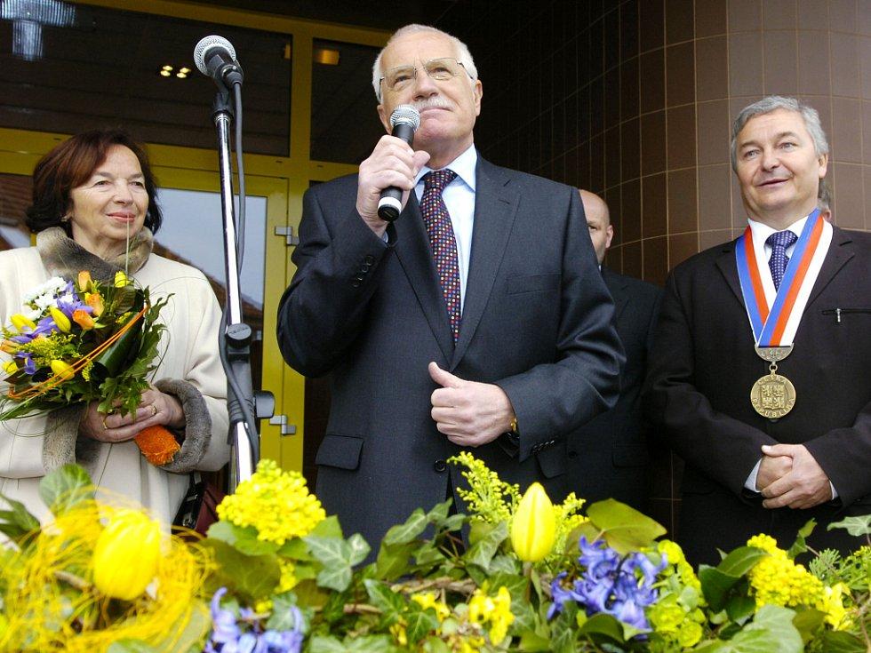 Zdravice Václava Klause Chlumeckým