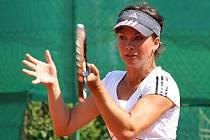 Lucie Šípková v prvním kole tenisového MČR.