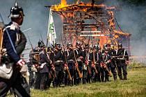 Historická rekonstrukce bitvy na Chlumu u Hradce Králové z roku 1866.