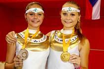 Tanečnice hradecké skupiny Cheeky Cheerky na mistrovství světa v Praze.