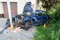 Havárie osobního automobilu v Kratonohách.