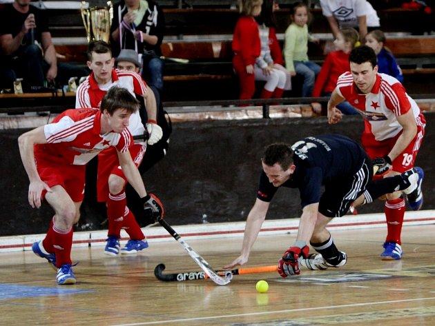 Extraliga mužů v halovém pozemním hokeji.