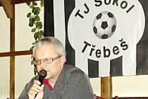 Předseda klubu Martin Zbořil při zprávě o činnosti.