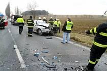 Smrtelná nehoda na silnici I. třídy č. 11 mezi Hřibskem a Vlčkovicemi na Královéhradecku.