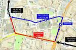 Pozměněná trasa linky č. 15.