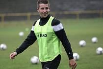 Fotbalista Radek Voltr.