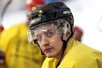 POSILA Z KOLÉBKY HOKEJE? S hradeckými hokejisty se zapojil do přípravy kanadský obránce Stefan Wonfor, který je na východě Čech na zkoušce a musí trenéry přesvědčit o svých kvalitách.