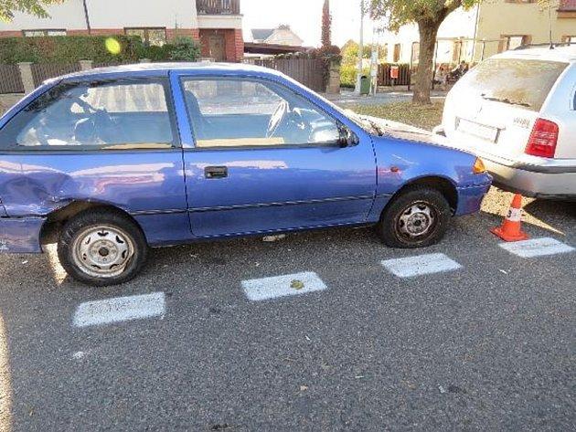 Za volantem salkoholem. Žena nabourala dvě auta.
