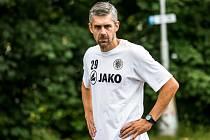 Trénink královéhradeckých fotbalistů.