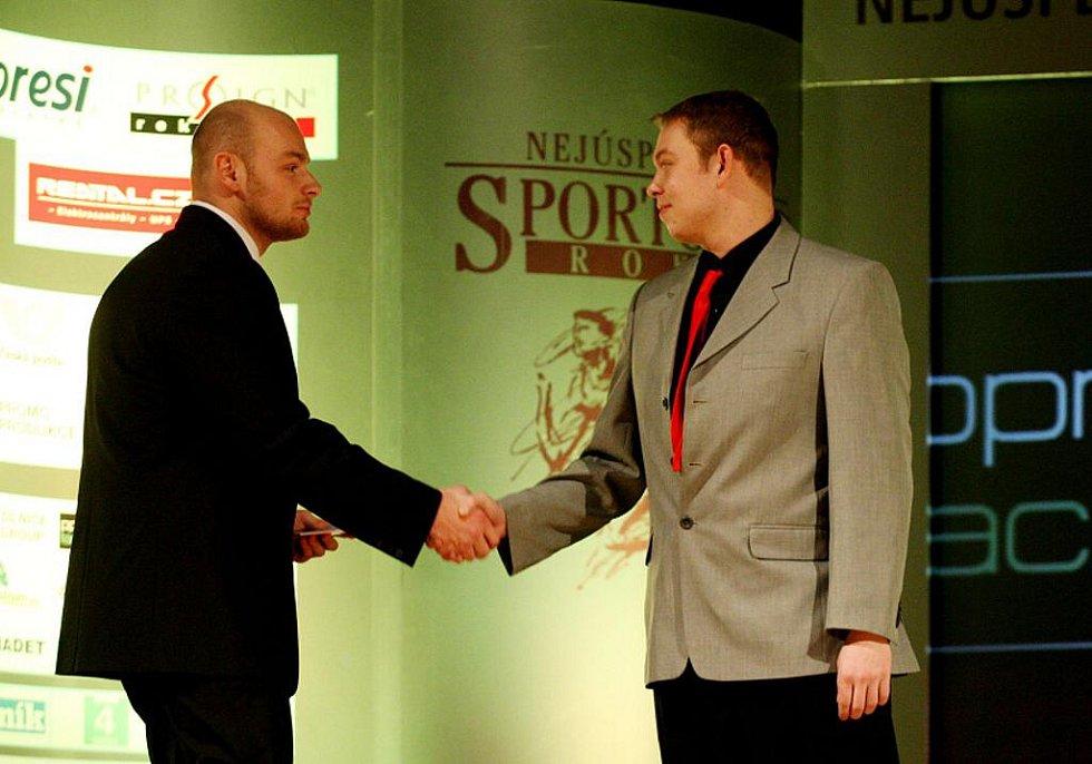 """Z vyhlášení """"Nejúspěšnějšího sportovce"""" za rok 2010."""