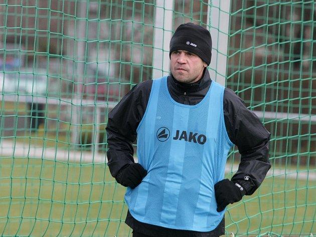 Fotbalista Marek Kulič na tréninku vHradci Králové.