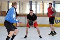 Hradečtí hokejisté během letní přípravy.