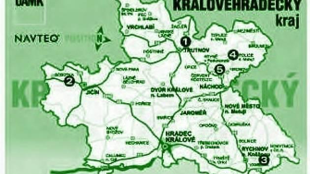 Mapa dopravních uzávěr