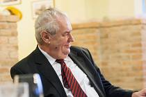 Prezident Miloš Zeman při rozhovoru pro regionální Deník.