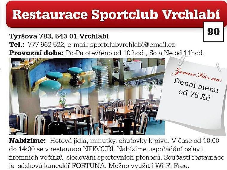 Restaurace Sportclub Vrchlabí