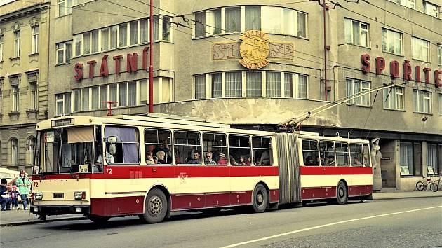 Retro trolejbusy v Hradci Králové.