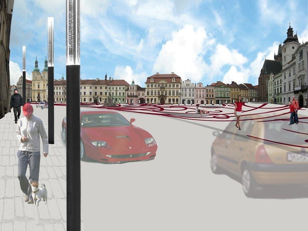 Návrh na proměnu Velkého náměstí v Hradci Králové očima architekta Romana Kouckého.