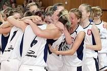 Basketbal, finále MČR starších dorostenek v Hradci Králové