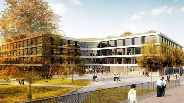 V nové budově banky by měli najít zázemí nejen její pracovníci, ale také  zde budou obchody, kavárna či zeleň na střeše.