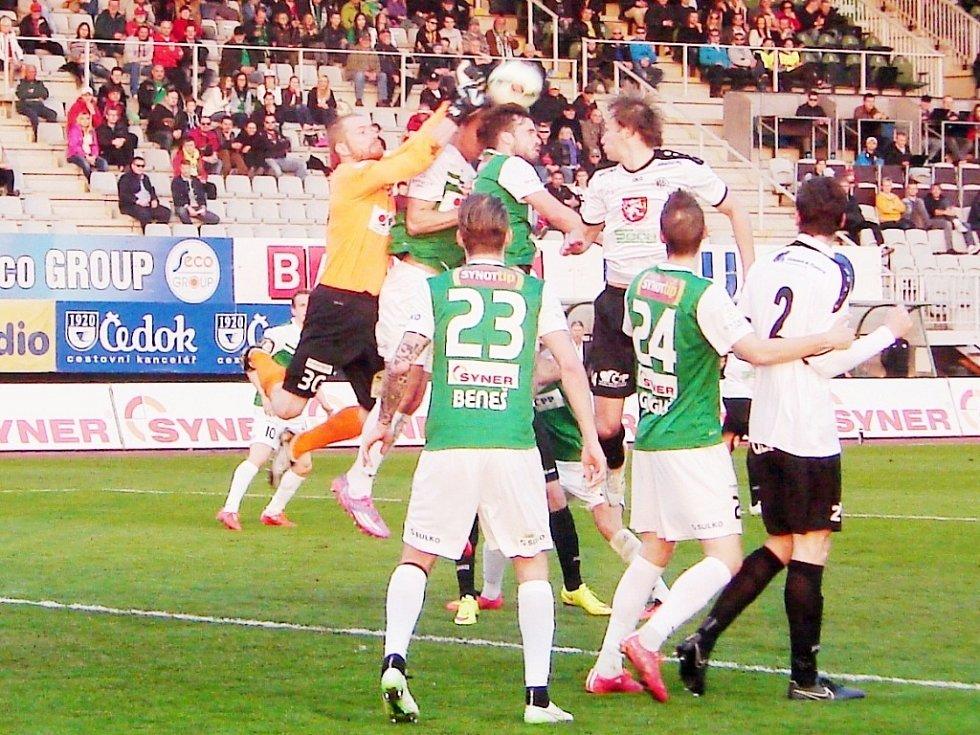 Fotbalová Synot liga: FK Baumit Jablonec nad Nisou - FC Hradec Králové.