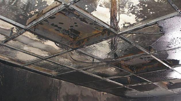 Požár na hradeckém nádraží v úterý 2. února.