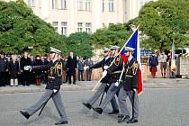 Den vzniku samostatného československého státu - 28. říjen na královéhradeckém Masarykově náměstí.