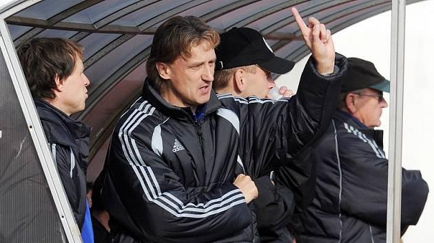 Trenér Oldřich Machala (Hradec Králové) při fotbalovém utkání AC Sparta Praha B vs. FC Hradec Králové na Strahově.