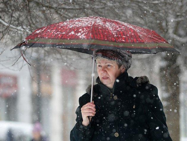 Zima v Hradci Králové.