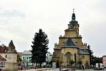 Klicperovo náměstí v Chlumci nad Cidlinou po rekonstrukci.