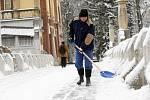 Zima v ulicích Hradce Králové.