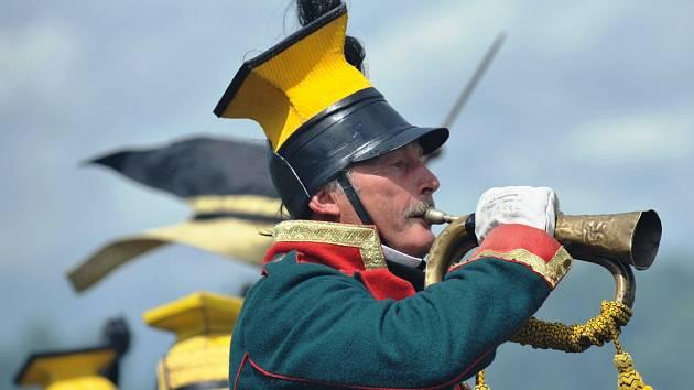 Na rakouská i pruská vojska na Chlumu pršelo