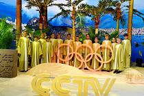 CCTV Peking - natáčení pro olympijské studio.