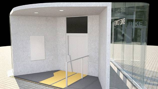 Vizualizace podzemního cyklodomu u vlakového nádraží v Hradci Králové.
